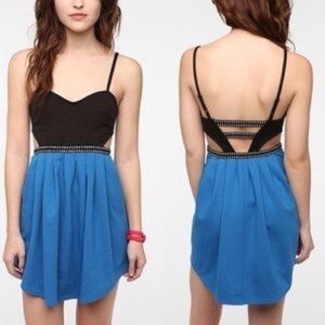 Silence + Noise UO Bare Back Bustier Mini Dress